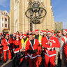 Santa Clauses Motor Bikers  - traditional gathering - Novi Sad, Serbia