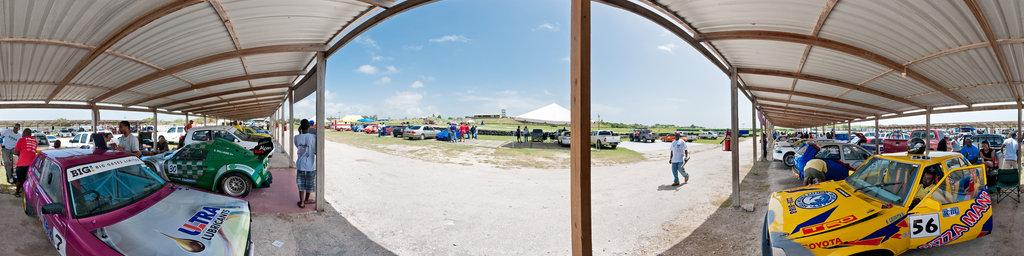 Bushy Park race track - pits