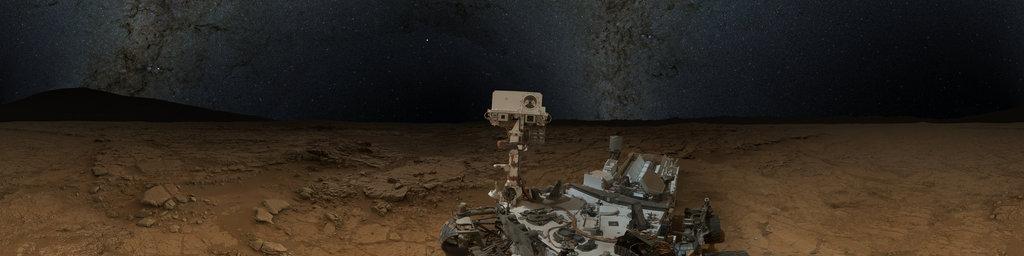 Mars Panorama - Curiosity rover: Martian night