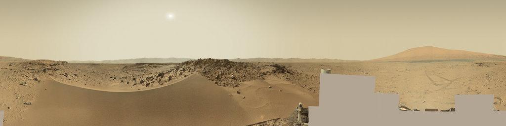 Mars Panorama - Curiosity rover: Martian solar day 530