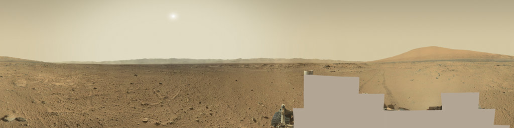 Mars Panorama - Curiosity rover: Martian solar day 541