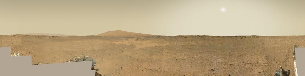 Mars Panorama - Curiosity rover: Martian solar day 752