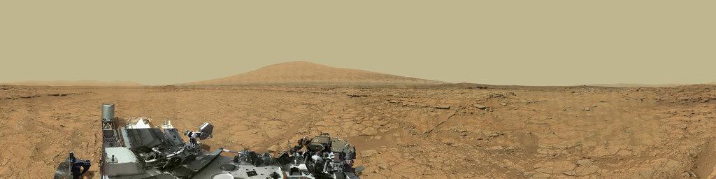 Mars Gigapixel Panorama - Curiosity rover: Martian solar days 136-149