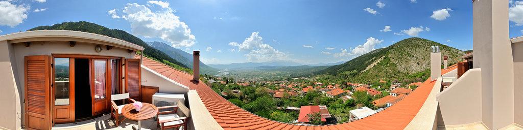 Konitsa Hotel red suite balcony