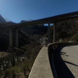 Railway and Roads in the Biaschina, Ticino on the Gotthard Line