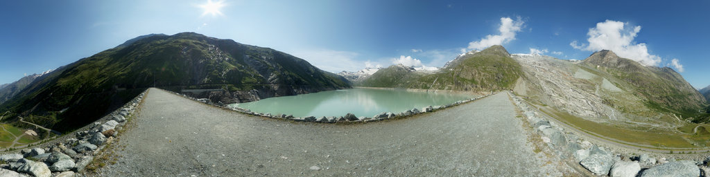 Mattmark Reservoir in the Saas Valley 2