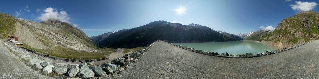 Mattmark Reservoir in the Saas Valley 1