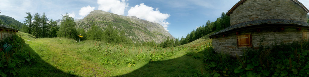 At the Eien Alp in the famous Saas Valley
