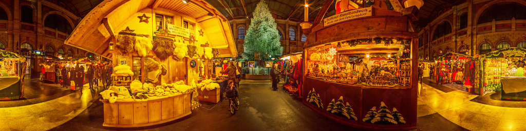 Christmas Market at the Main Station in Zurich