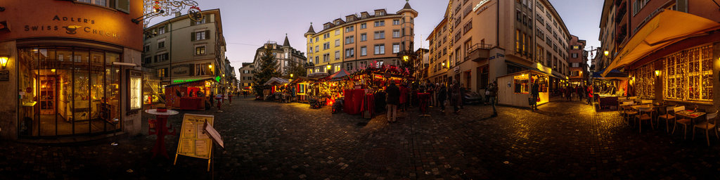 Hirschenplatz in Zurich in the Christmas Time