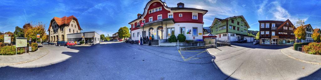 Bahnhofplatz in Appenzell