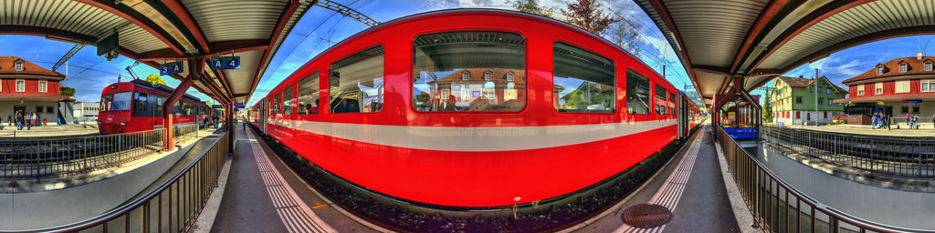 Our train to Urnäsch arrived in Appenzell