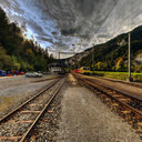 My train arrives in Versam-Safien