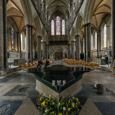 Nave, Salisbury Cathedral, Salisbury, Wiltshire