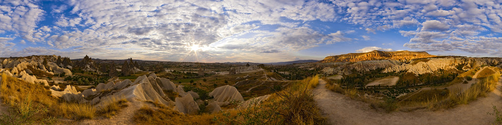 before sunset in Cappadocia, Turkey