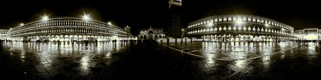 Piazza San Marco at Night, Venice, Italy
