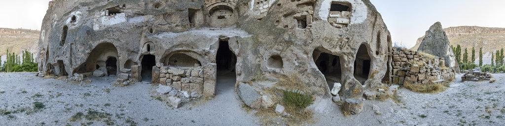 In front of the Yilanli Kilise, Soganli, Cappadocia, Turkey
