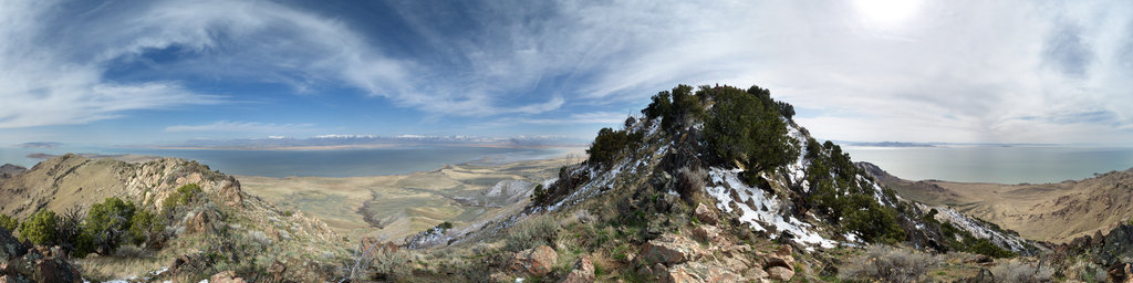 Frary Peak, Antelope Island State Park, Utah, USA