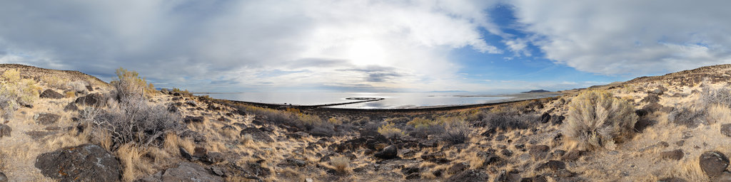 The Spiral Jetty, Rozel Point, Utah, USA