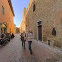 Via Boccaccio, the Main Street of Certaldo Alto