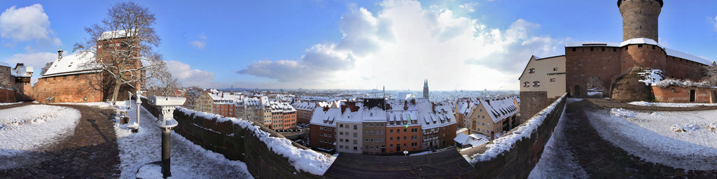 Nuremberg Castle in Winter