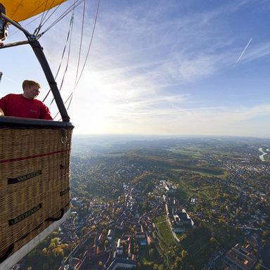 Airpano - Hot Air Balloon flight over Bamberg