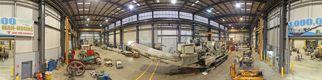 Mellott Company Crushing and Screening Service Bay with Metso Track Plant