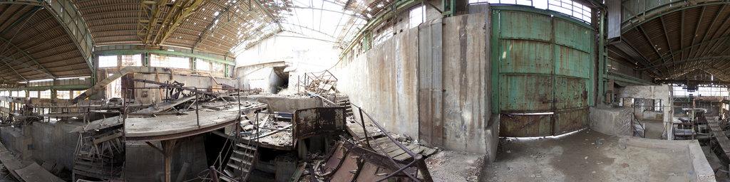 At the abandoned Lavadero Roberto, Portman, Murcia, Spain