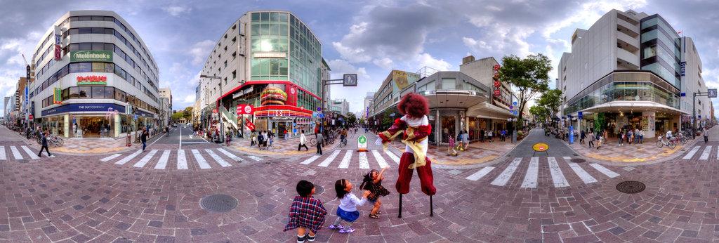 "Scenery of the downtown ""Gohuku-tyou""  Shizuoka-City"