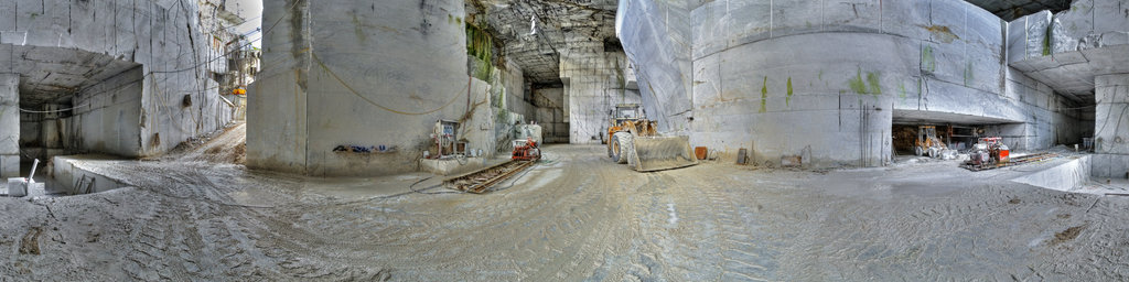 Inside A Marble Quarry