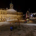 Dam square by night christmas