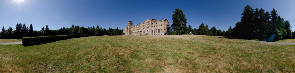 Seminary South Lawn - Saint Edward State Park, Washington State