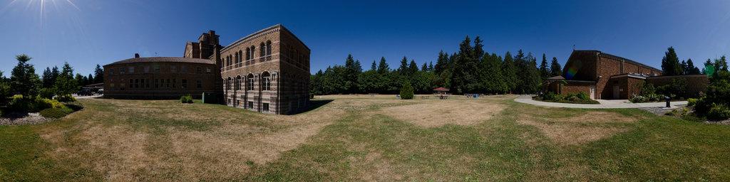Seminary North Lawn - Saint Edward State Park, Washington State