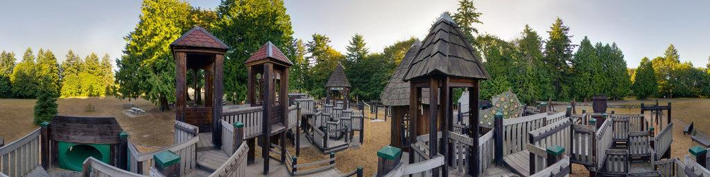 Saint Edward Playground (2) - Saint Edward State Park, Washington State