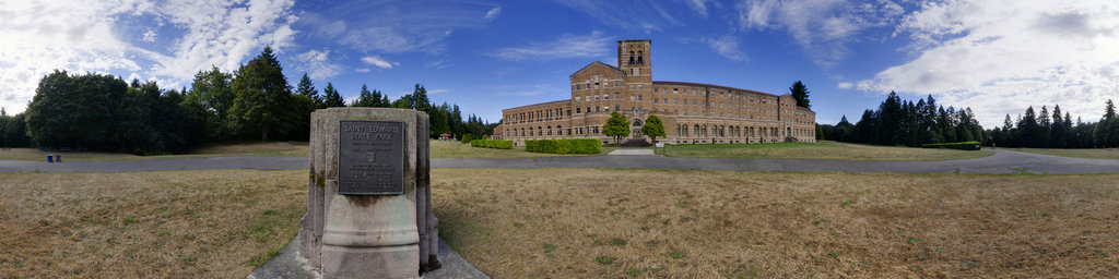 Seminary Front Lawn - Saint Edward State Park, Washington State