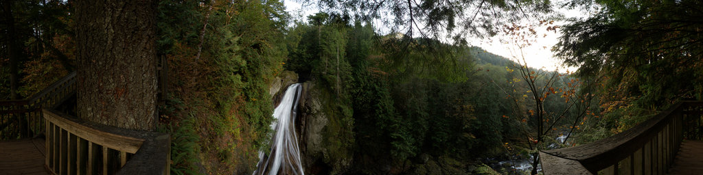 Twin Falls Viewpoint (2) - Olallie State Park, Washington State