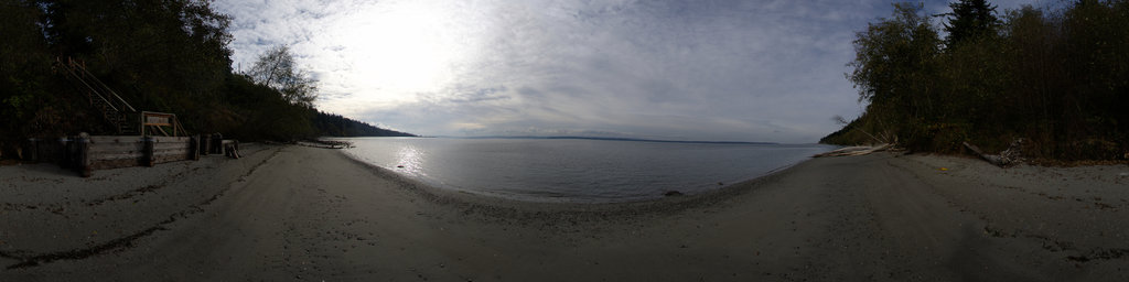 Beach at South Whidbey State Park, Washington State