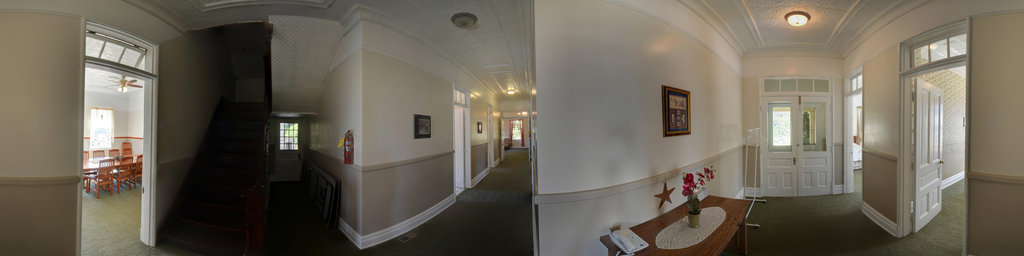 Main Hallway, Scarborough House - Fort Columbia State Park