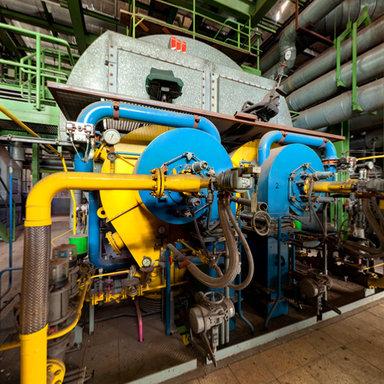 Maxhütte - die Dampfkessel des Kraftwerks